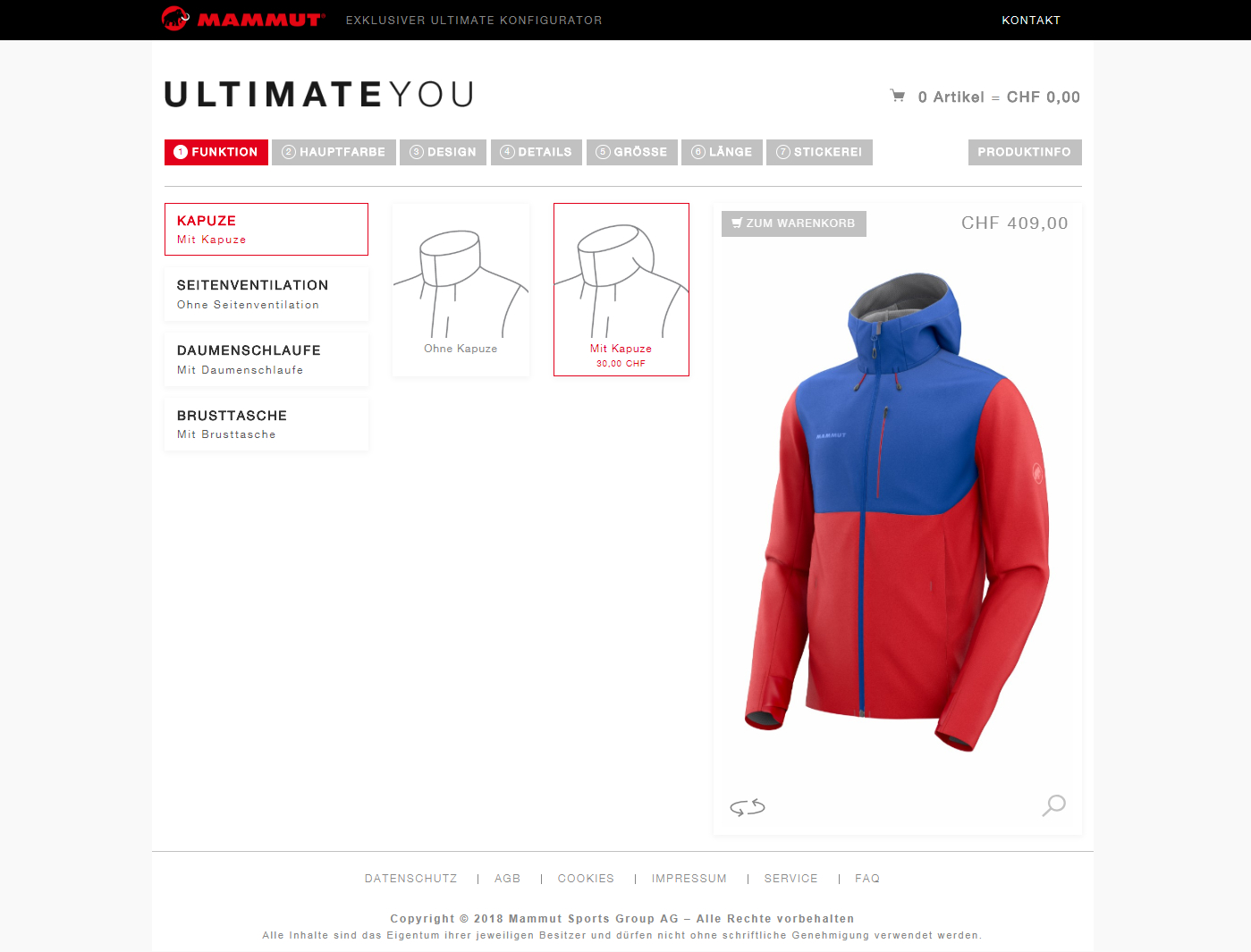 pod – Pattern on Demand® bei MAMMUT Sports Group AG im Einsatz